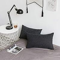 Kevin Textile Decorative Meteor Faux Linen Cushion Cover