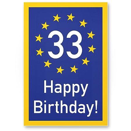 DankeDir!. 33 años Happy Birthday - Cartel de plástico ...