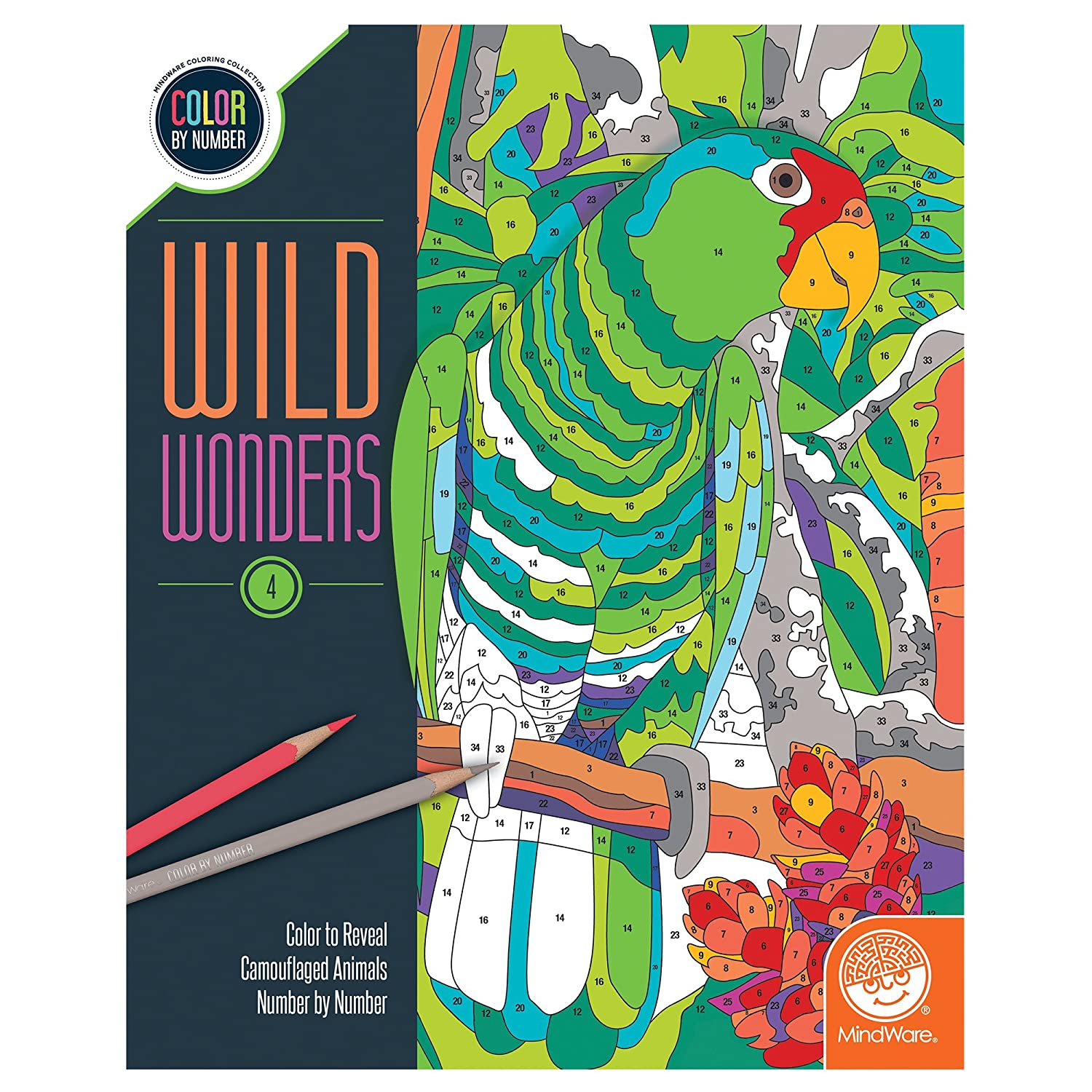 Amazon.com: Wild Wonders Color by Number: Book 4: Toys & Games