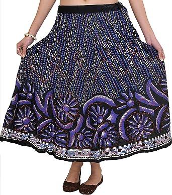 Exotic India - Falda - para Mujer Negro Negro: Amazon.es: Ropa y ...
