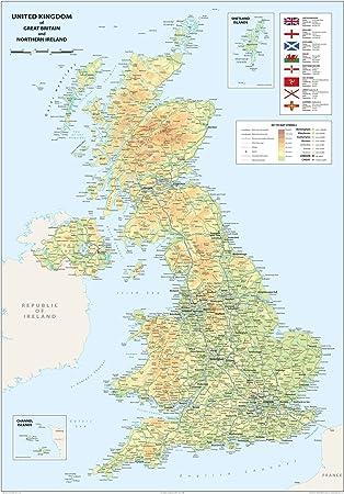 Karte Vom Vereinigten Konigreich Grossbritannien Und Nordirland
