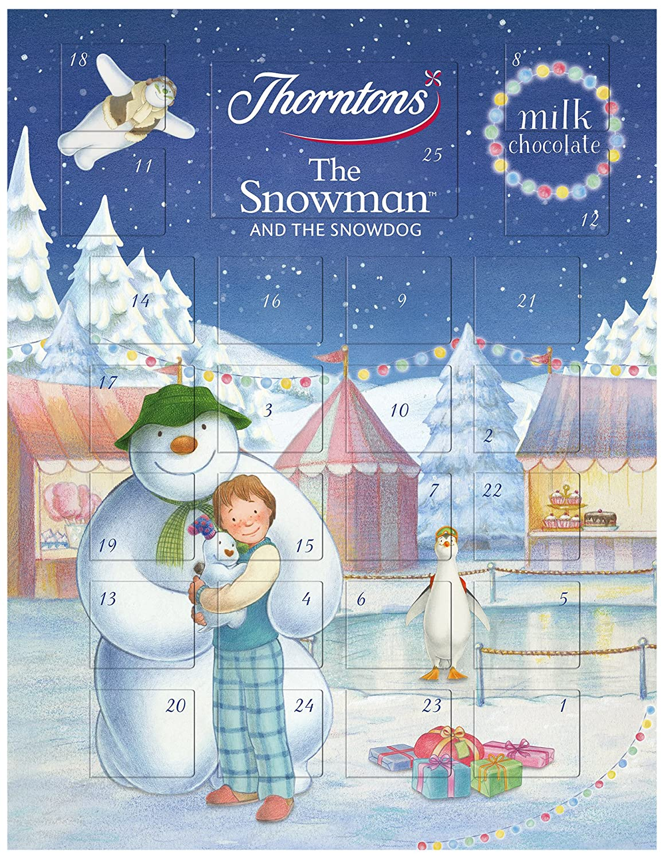 Thorntons Snowman Advent Calendar 93 G Pack Of 11 Amazon