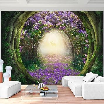 Fototapeten Lila Blumen Wald 352 X 250 Cm Vlies Wand Tapete Wohnzimmer  Schlafzimmer Büro Flur Dekoration