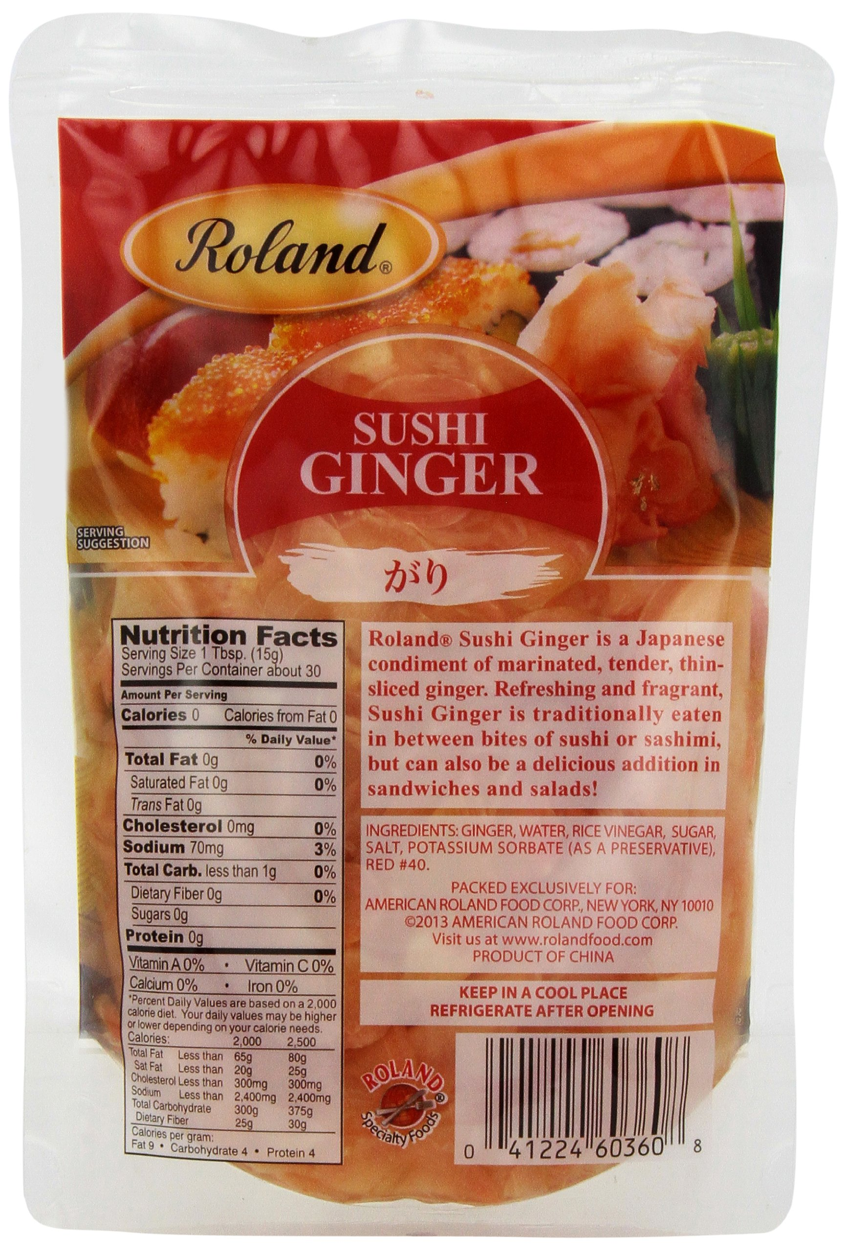 Roland Sushi Ginger, 16 Ounce (Pack of 6)