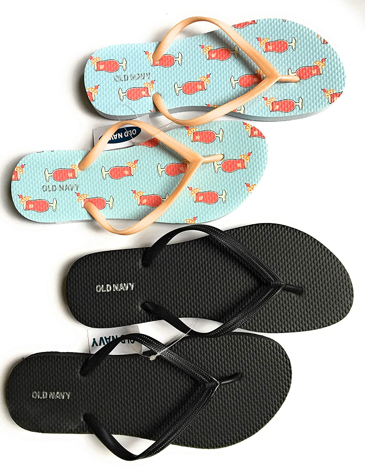 4407c59432cf Amazon.com  Old Navy Women Beach Summer Casual Flip Flop Sandals  Clothing