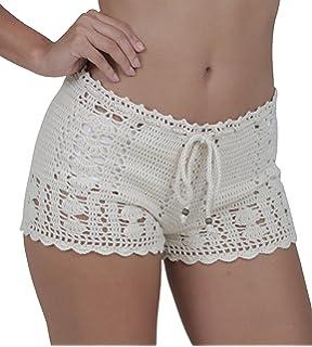 c8020e6d95 M&B USA Casual Shorts Cotton Crochet Lace Shorts Beach Summer Miniskirts