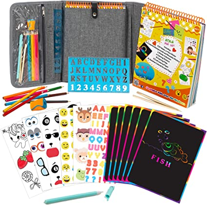 SCRAPBOOK 24 Pages Black Art//Craft Paper Activity Pad Draw//Sketch Stationary