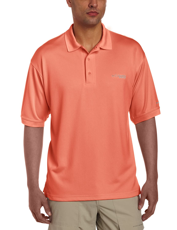 UV Protection Columbia Mens PFG Perfect Cast Polo Shirt Breathable