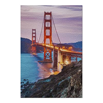 San Francisco, California - Golden Gate Bridge at Twilight 9025471 (Premium 1000 Piece Jigsaw Puzzle for Adults, 20x30, Made in USA!): Toys & Games