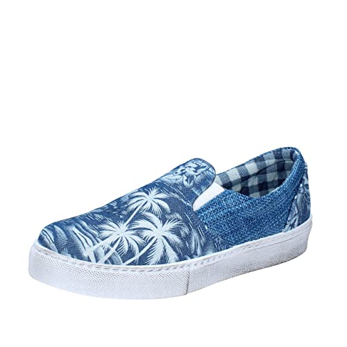 2 STAR - Mocasines de tela para hombre Azul turquesa Azul Size: 42: Amazon.es: Zapatos y complementos