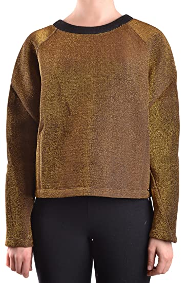 612fb27d69 Twin-Set Women s MCBI302125O Gold Viscose Sweatshirt  Amazon.co.uk ...