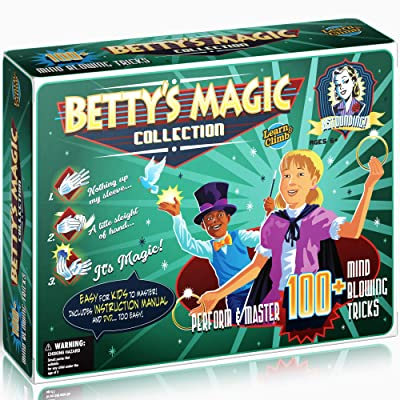Learn & Climb Betty's Magic kit for Kids - Master Over 100 Magic Tricks Set: Toys & Games
