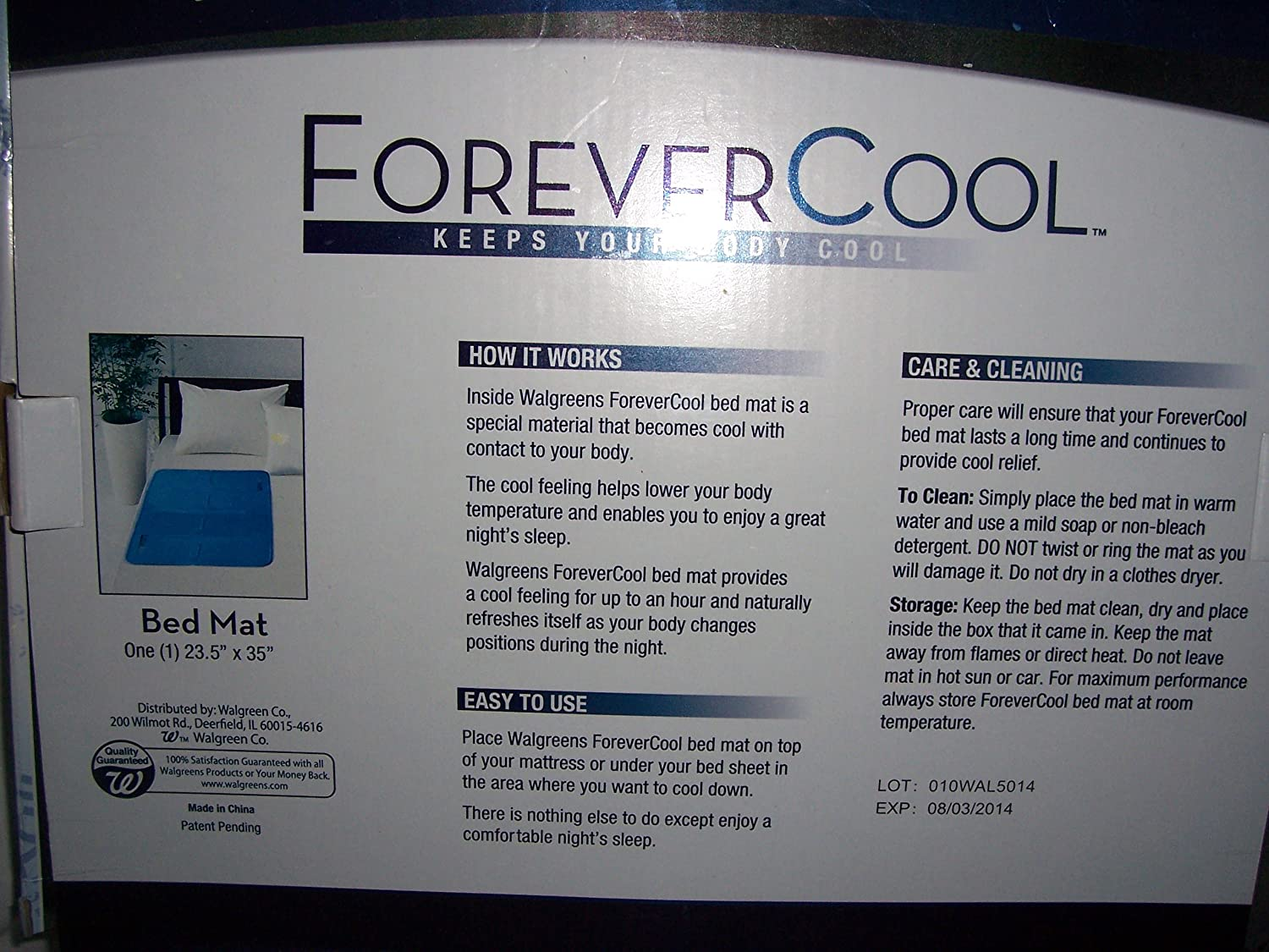 amazon com walgreens forever cool bed mat 23 5