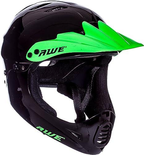 AWE Casco integral para BMX, color verde, tamaño grande de 58 a 60 cm: Amazon.es: Deportes y aire libre