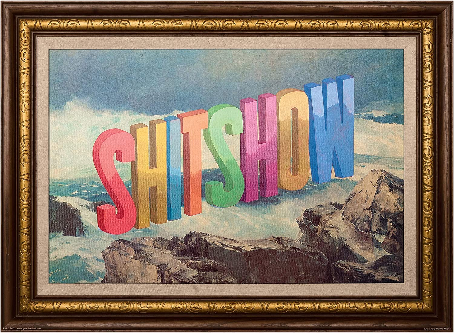 Shitshow by Wayne White 500 Piece Puzzle