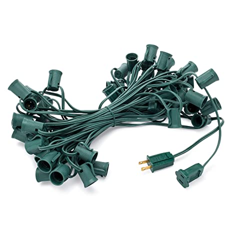 holiday lighting outlet c9 christmas light string patio event lighting 50 green