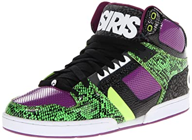 29d555fbe2 Osiris Shoes Men's Nyc83 Green/Black/Purple Trainer 11301939 9 UK, ...