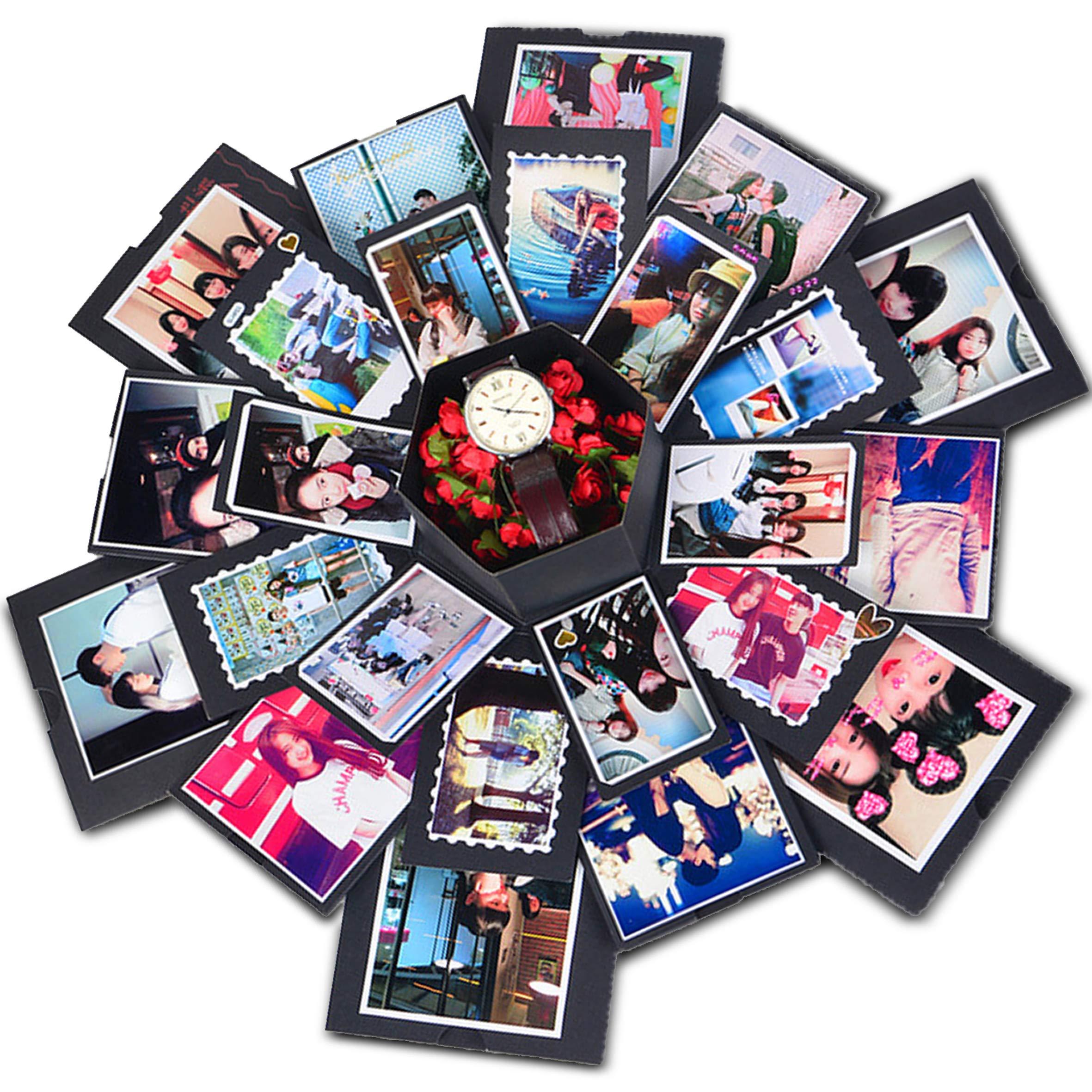 Explosion Gift Box | Love Memory DIY Photo Album | Surprise Box | Creative Scrapbook Album | Anniversary-Birthday-Wedding-Engagement | ...