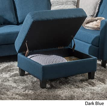 Amazing Christopher Knight Home Living Carolina Dark Blue Fabric Storage Ottoman Caraccident5 Cool Chair Designs And Ideas Caraccident5Info