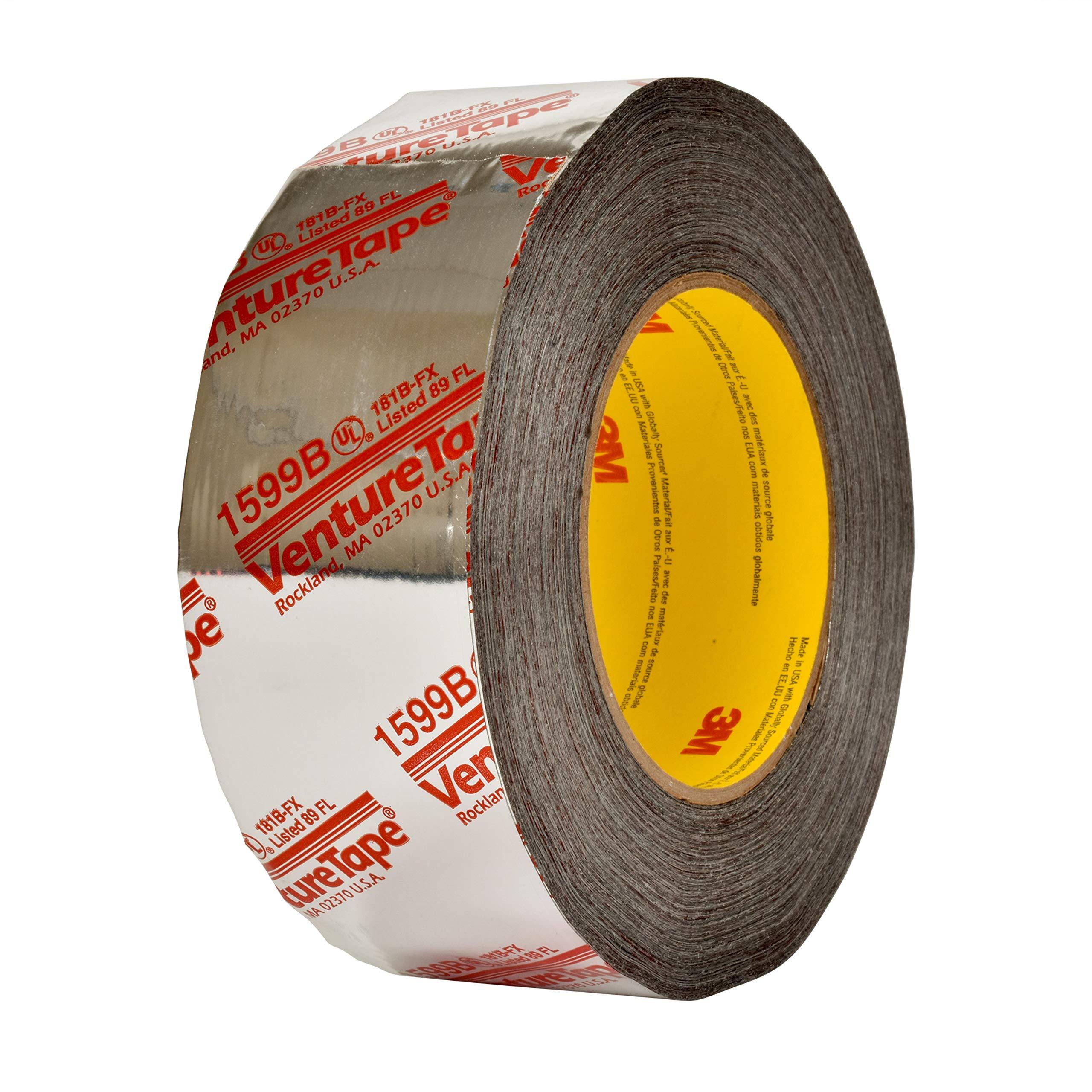 3M Venture Tape UL181B-FX Polypropylene Duct Tape 1599B Silver, 48 mm x 109.7 m 3 mil (Pack of 24)