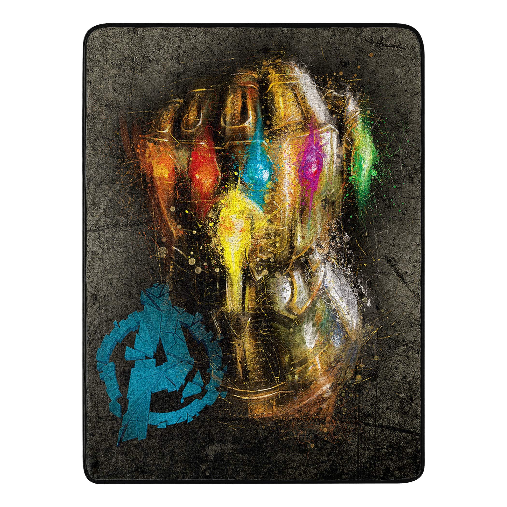Marvel's Avengers Endgame, ''Gauntlet'' Micro Raschel Throw Blanket, 46'' x 60'', Multi Color