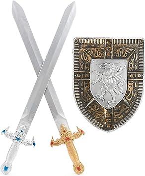 Generique - Kit Escudo 2 Espadas Gladiador niño: Amazon.es: Juguetes y juegos