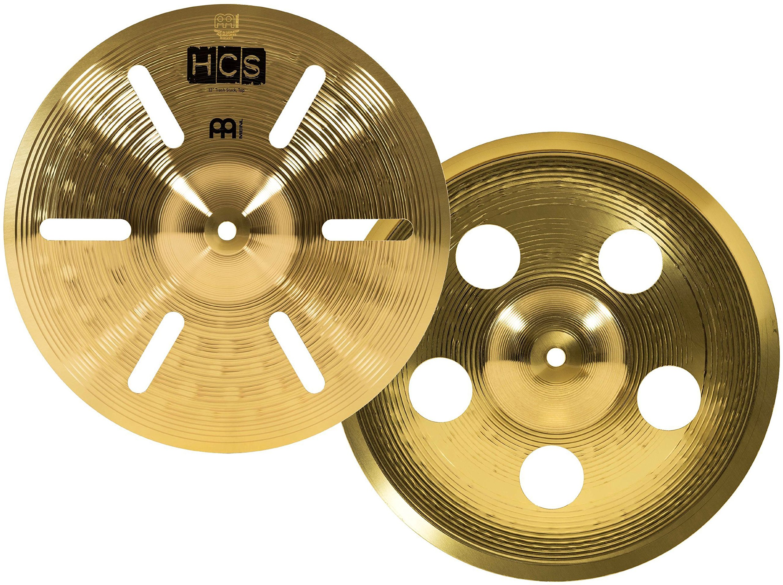 Meinl Cymbals HCS12TRS 12'' HCS Brass Trash Stack Cymbal Pair for Drum Set (VIDEO) by Meinl Cymbals