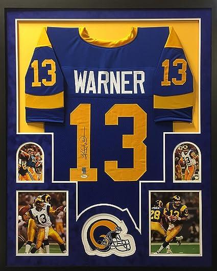 the latest 96853 bf1b4 Kurt Warner St. Louis Rams Autograph Signed Custom Framed ...