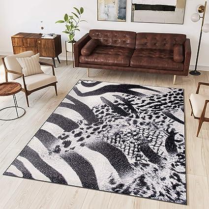 Tapis Scarlet quatrième Salon Chambre Moderne - Blanc Noir ...