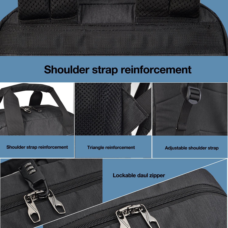 Kopack College Backpack W Usb Charging Port Lightweight Slim Laptop Bag For Business Travel 15 15.6 IN KP677 by kopack (Image #4)