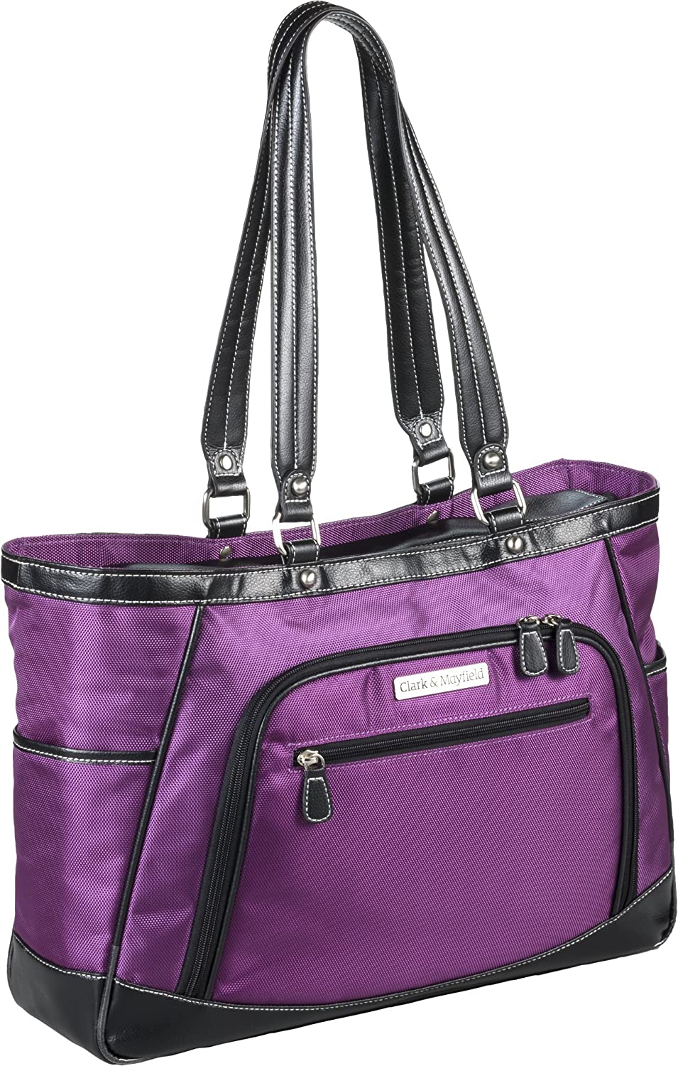 "Amazon.com: Clark & Mayfield Sellwood Metro XL 17.3"" Laptop Tote Purple:  Computers & Accessories"