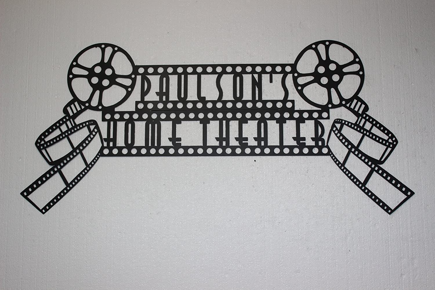 Amazon.com: Custom Personalized Home Theater Sign Dual Movie Reels ...