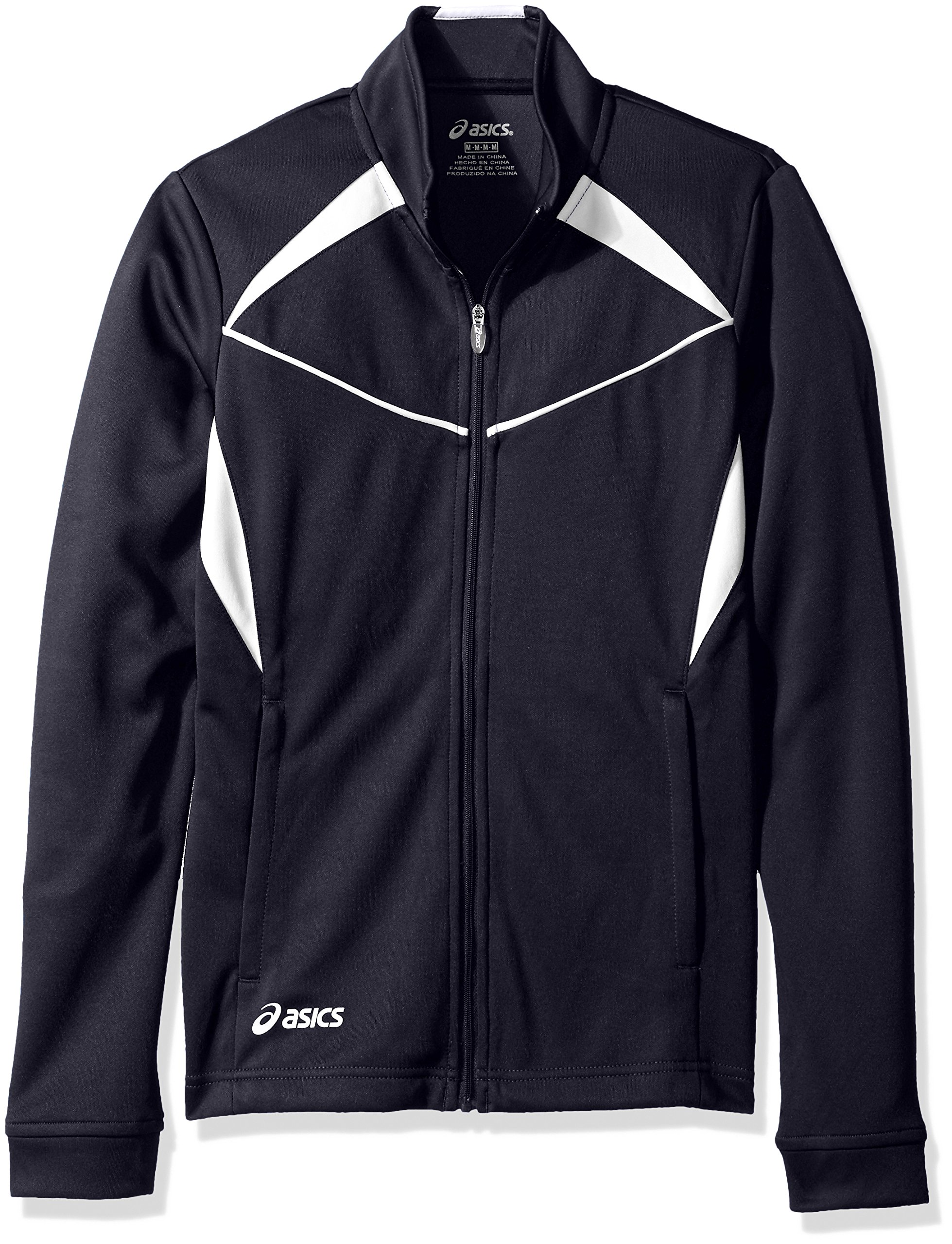 ASICS Jr Cali Jacket, Navy/White, Large by ASICS
