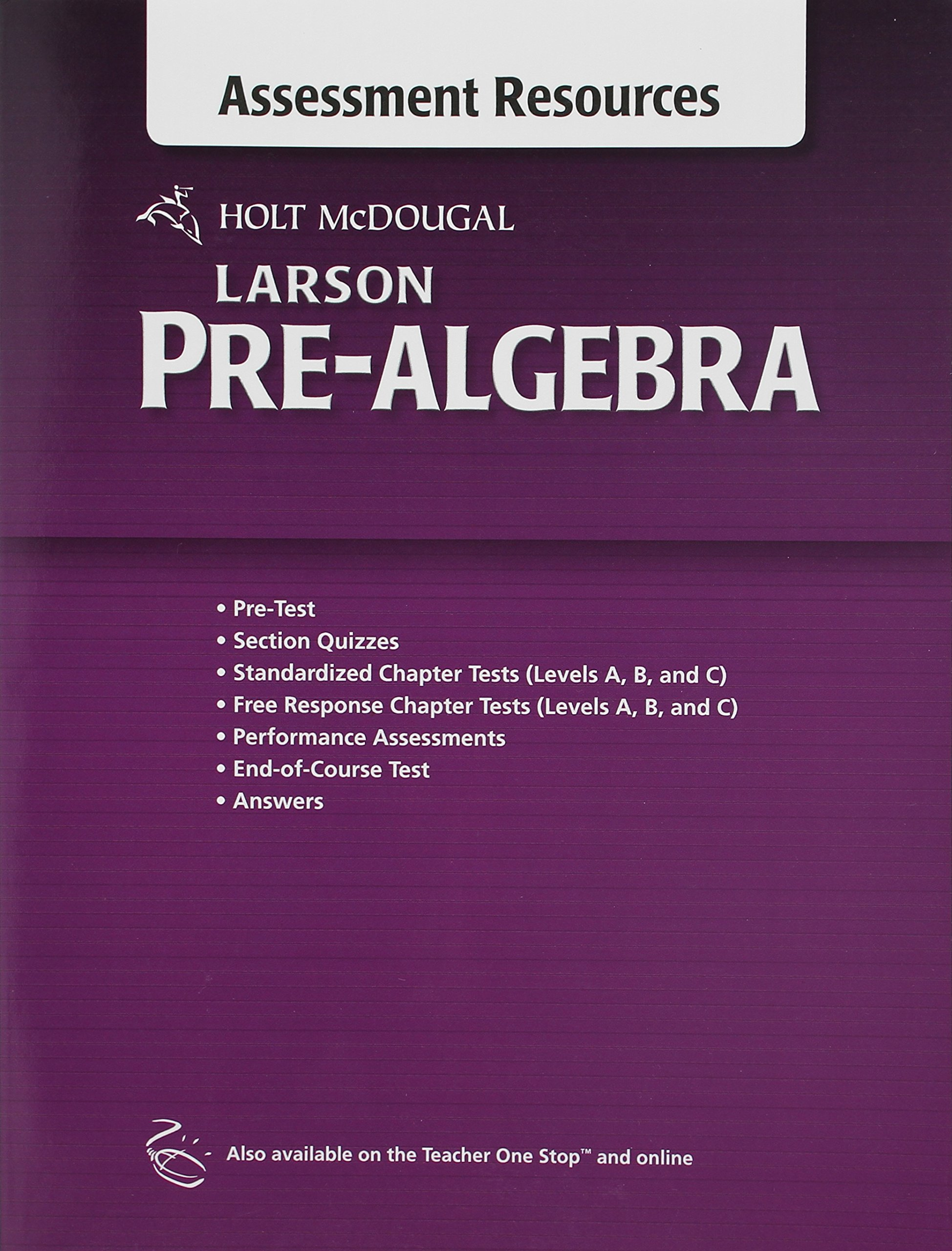 Holt McDougal Larson Pre-Algebra: Common Core Assessment