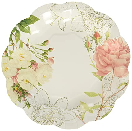 Amazon Talking Tables Vintage Floral Paper Plates Great For