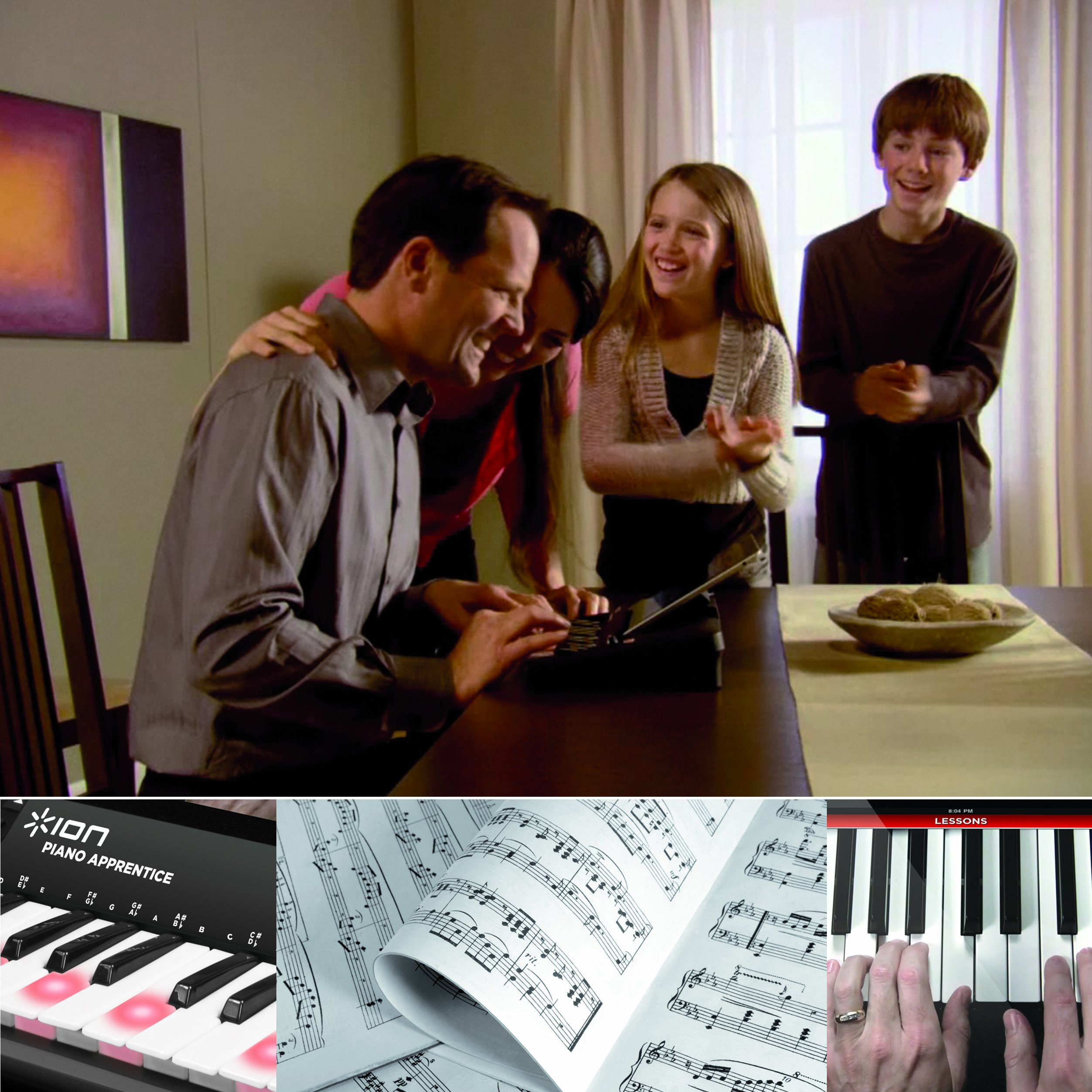 ION Audio PIANO APPRENTICE 25-note Lighted Keyboard for iPad, iPod and iPhone by ION Audio