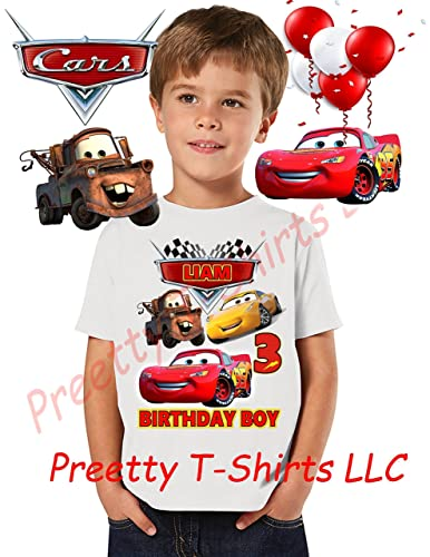 6da413e22 Cars Birthday Shirt, ADD any name & ANY age, Birthday Boy Shirt, Cars  FAMILY Matching Shirts, Cars, Lightning McQueen shirts, Cars Shirts, VISIT  OUR SHOP!!,