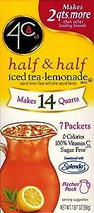 4C Totally Light Half & Half Iced Tea.Lemonade, 7-Count Packets (Pack of 4)