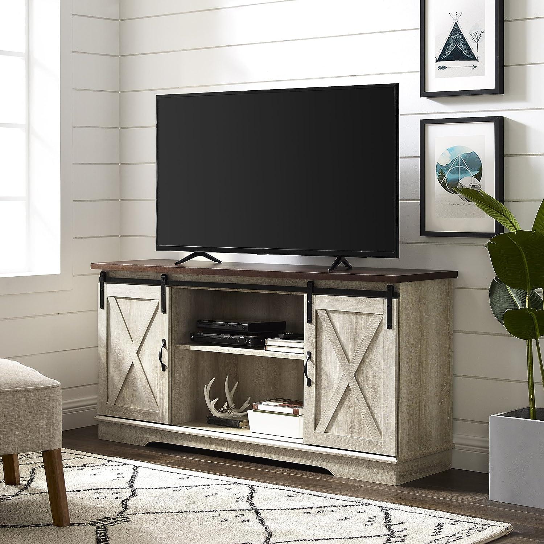 Amazon Com We Furniture Az58sbdwo Sliding Barn Door Tv Media