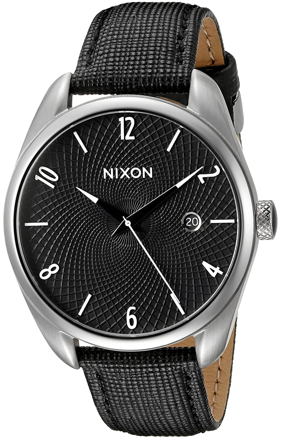 50dca335c Amazon.com: Nixon Women's A473000 Bullet Black Watch With Leather Band:  Watches