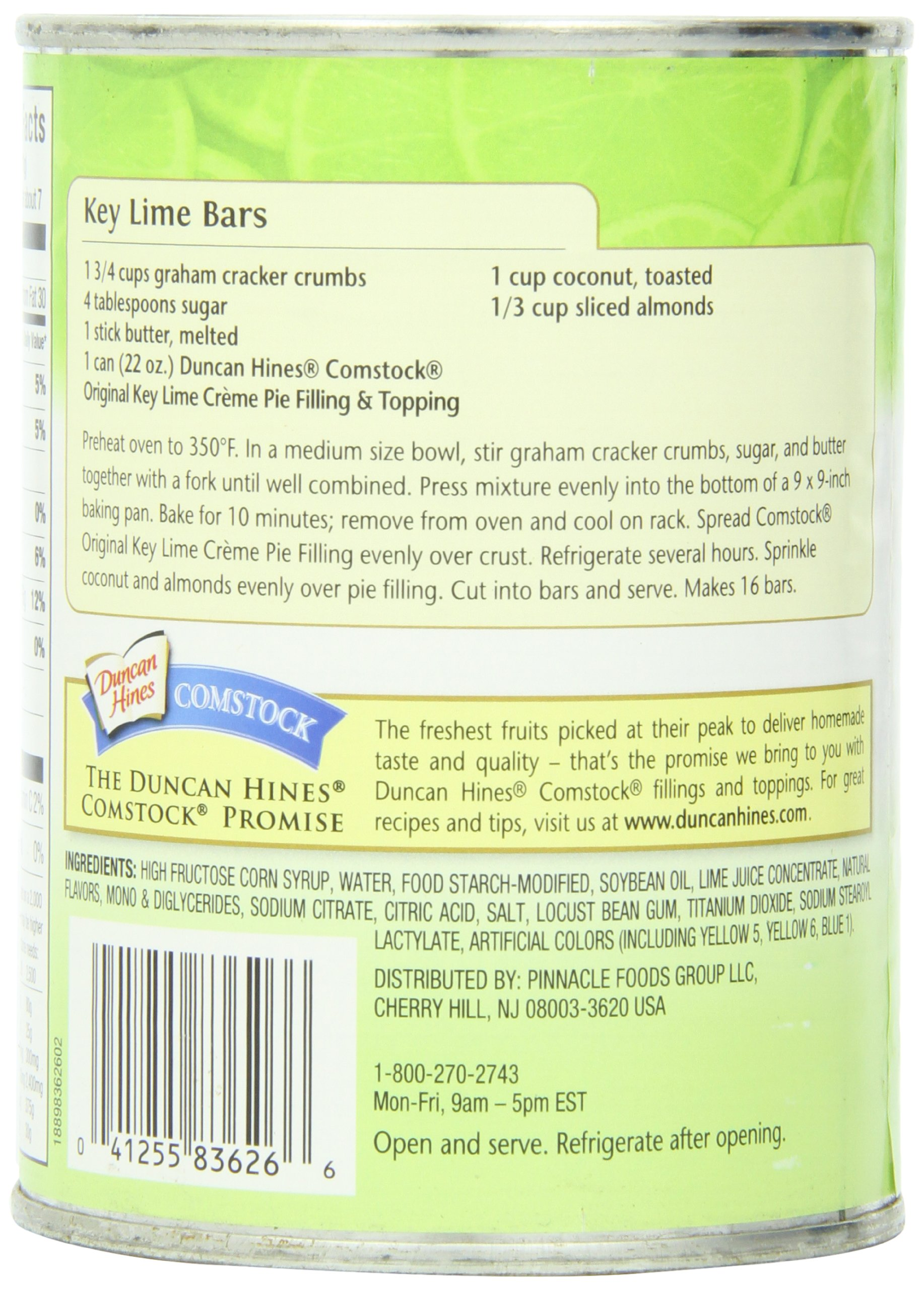 Comstock Original Pie Filling & Topping, Key Lime Creme, 22 Ounce (Pack of 8) by Comstock (Image #4)