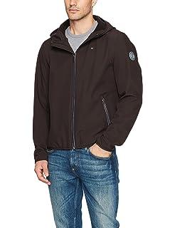 a7e6d0902c2a Tommy Hilfiger Men s Colorblocked Logo Rain Slicker Jacket at Amazon ...