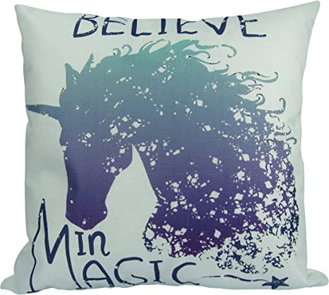 Baby Gift  N22 Unicorns Pillow Cover I Believe in Unicorns Pillowcovers Unicorn Pillow Nursery Home Decor Baby Pillowcase