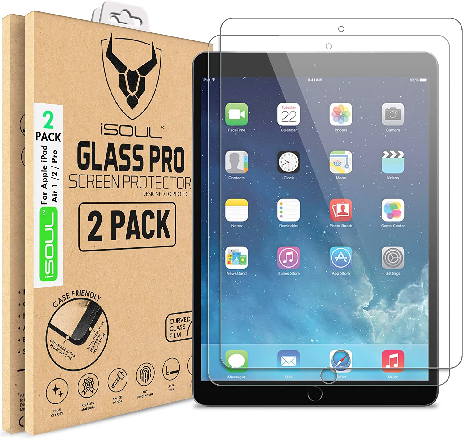 For Apple iPad Mini Pro Premium Tempered Glass Screen Protector Film Cover