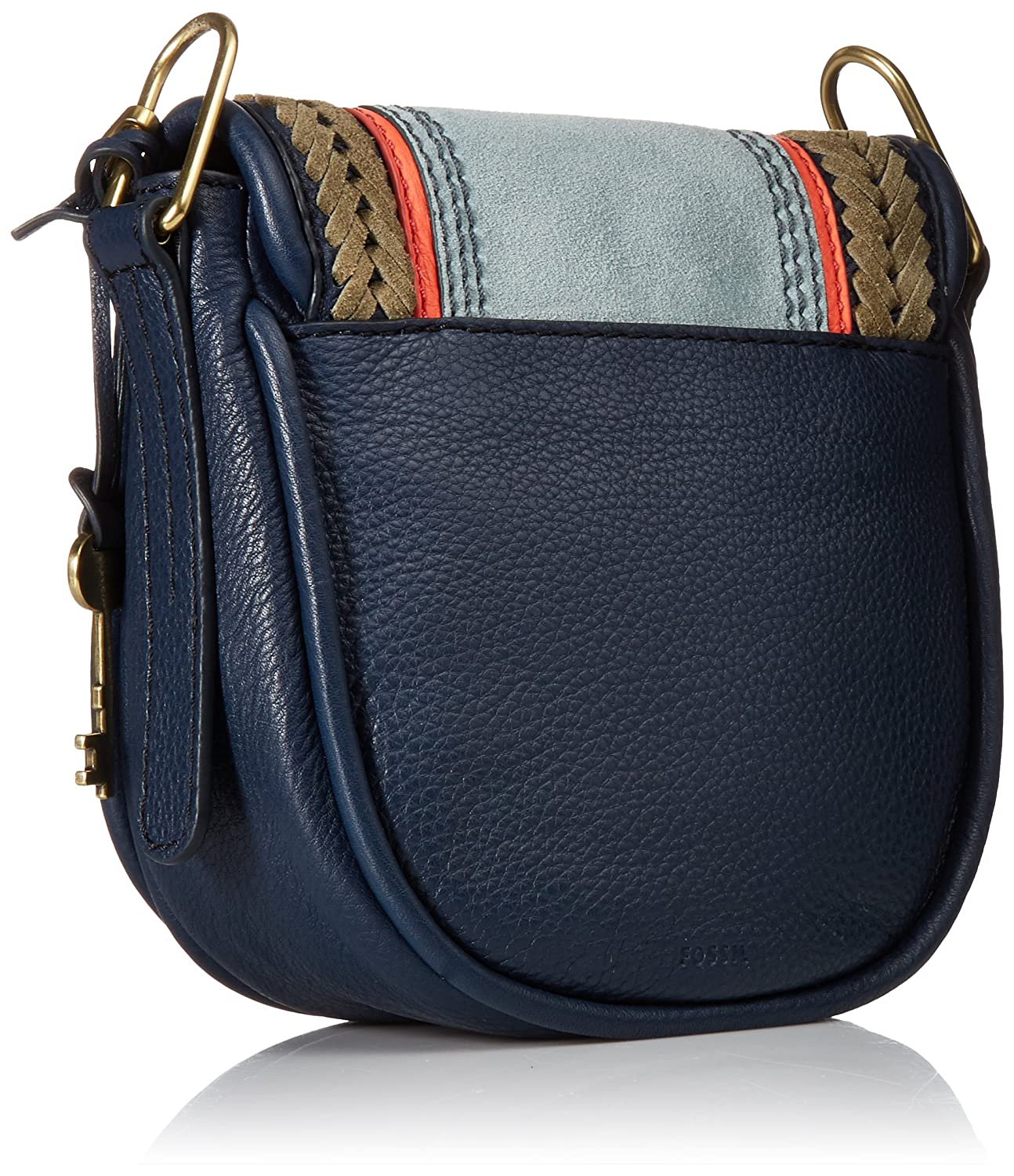 Fossil Zb7284490 Navy Multi Stripe Handbags Kendall Crossbody