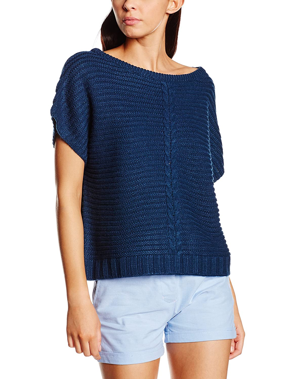 Pepaloves Sweater Cable Navy, Jersey para Mujer