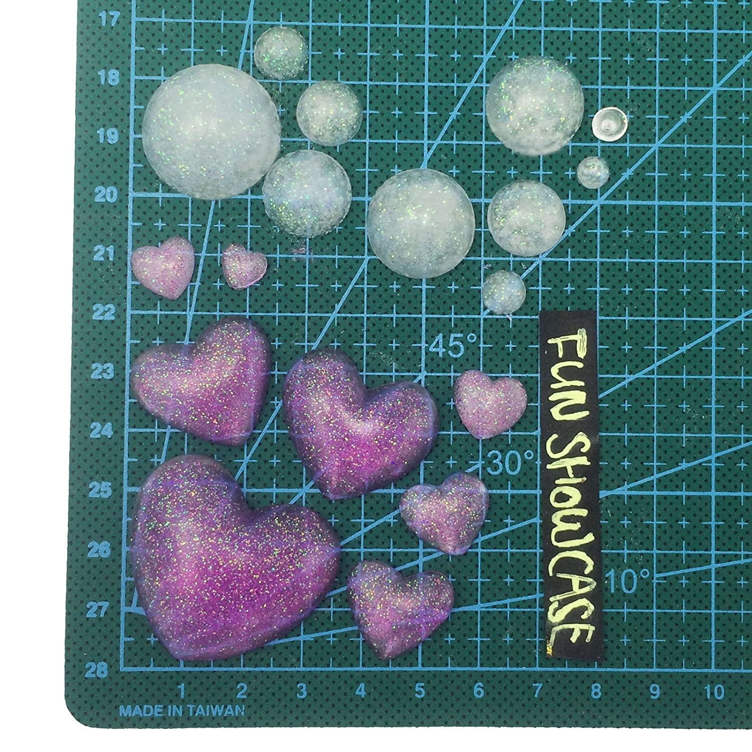 Crafting Polymer Clay Resin Epoxy Jewelry Making 7x7x1.5cm Funshowcase Dome Cabochon Gemstone Pastry Silicone Mold for Cake Decoration Cupcake Topper