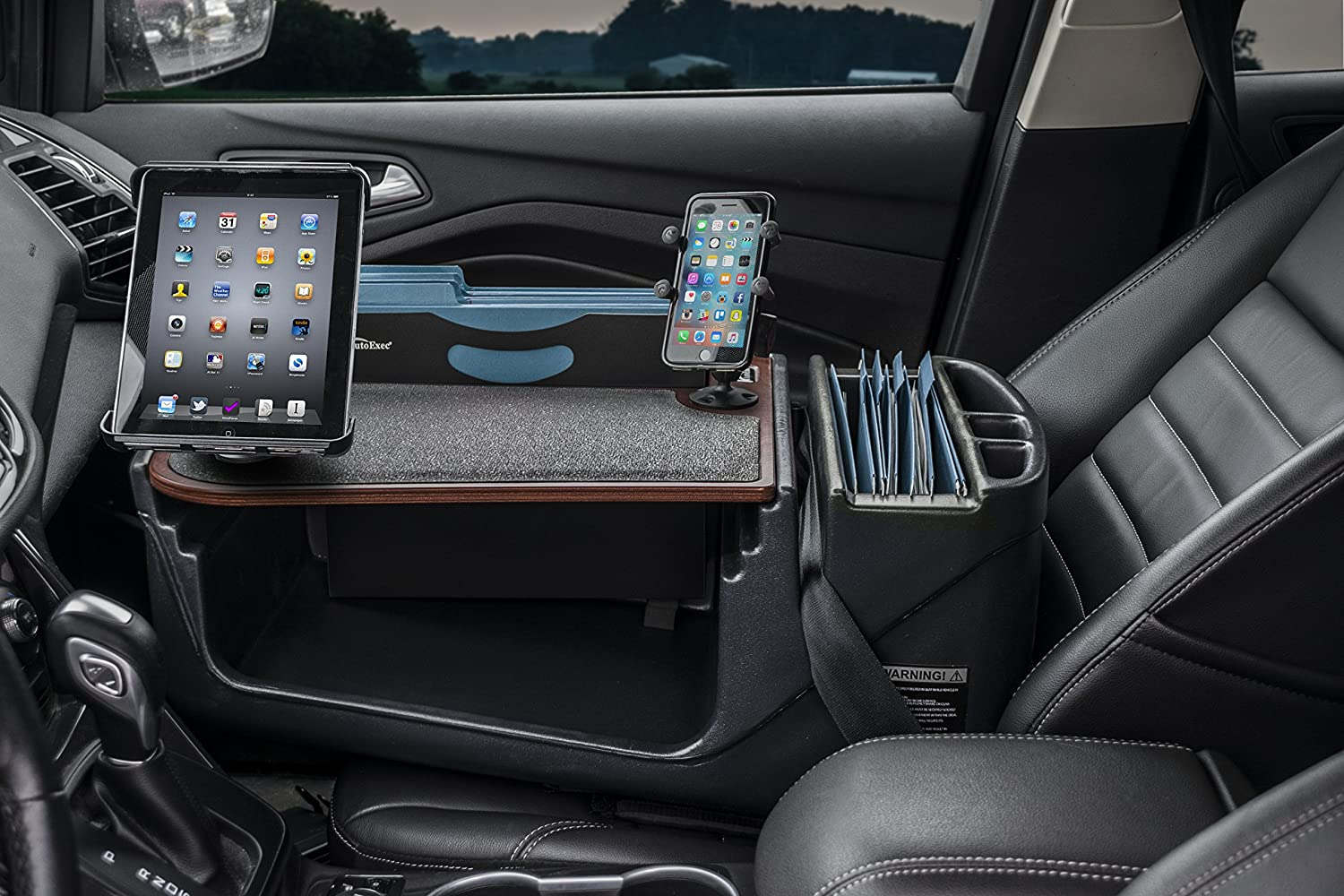 AutoExec AUE28007 FileMaster Built-in Power Inverter and iPad//Tablet Mount Car Desk AESFile-02-Tablet UC