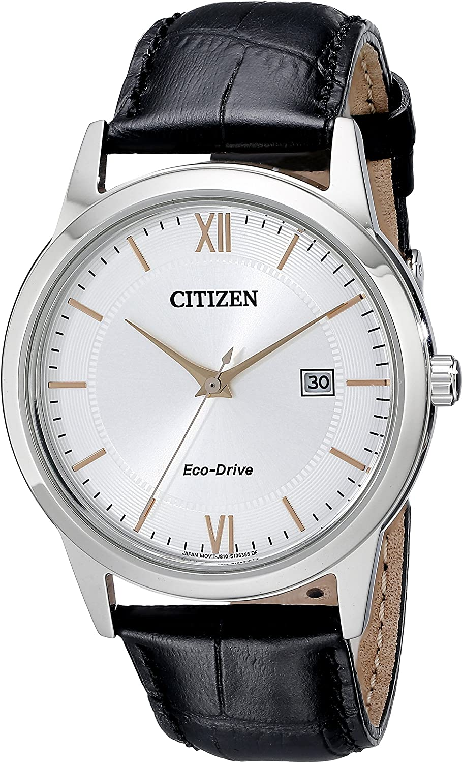 Amazon Com Citizen Men S Eco Drive Stainless Steel Watch With Date Aw1236 03a Citizen Watches