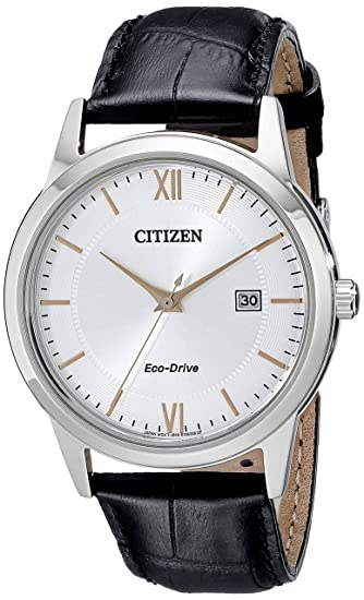 Citizen Men's Eco-Drive Stainless Steel Watch with Date, AW1236-03A best minimalist watches for men